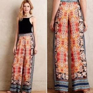 Ranna Gill - Anthropologie | wide leg floral pants